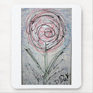Scribble Rose Mouse Pad