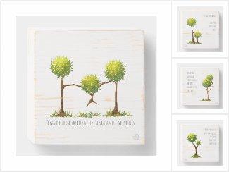 Scribble Trees - Wood wall art
