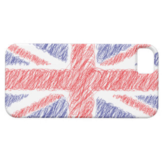 Scribble Uk England Flag iPhone5 Case