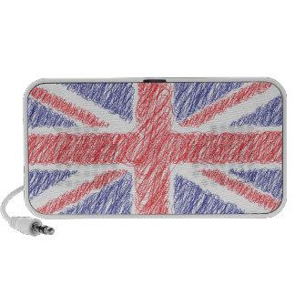 scribble UK England Flag Speaker