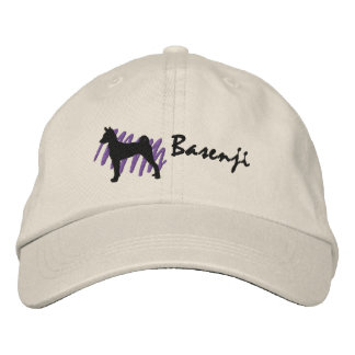 Scribbled Basenji Embroidered Baseball Cap