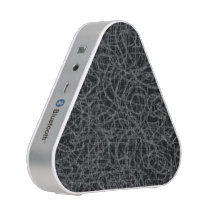 Scribbled black and white lines pattern speaker