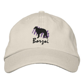 Scribbled Borzoi Embroidered Hat