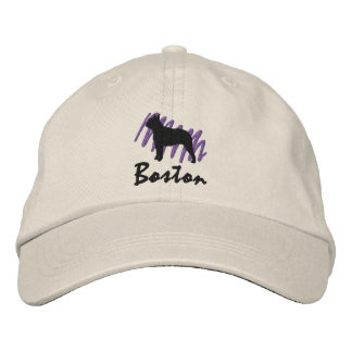 Scribbled Boston Embroidered Hats