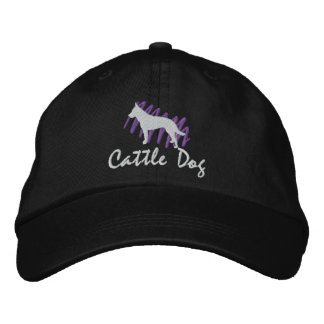 Scribbled Cattle Dog Embroidered Baseball Hat