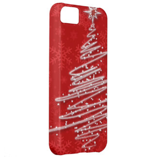 Scribbled Christmas Tree Cover For iPhone 5C
