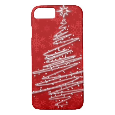 Christmas Themed Scribbled Christmas Tree iPhone 7 Case
