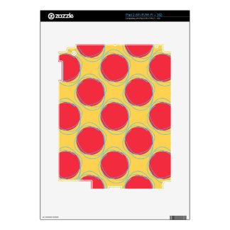 Scribbled Colorful Polka Dot Seamless Pattern iPad 2 Decals