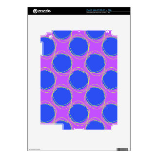 Scribbled Colorful Polka Dot Seamless Pattern iPad 2 Skins