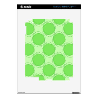 Scribbled Colorful Polka Dot Seamless Pattern iPad 3 Decals