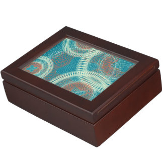 Scribbled Design blues Keepsake Box