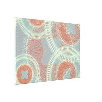 Scribbled Design grey Canvas Print