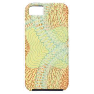 Scribbled Design yellow iPhone 5 Cover