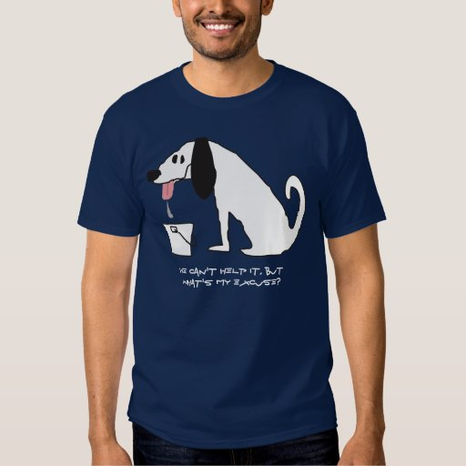 scribbled drooling dog with drool bucket t-shirt