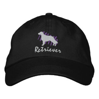 Scribbled Flat-Coated Retriever Embroidered Baseball Hat