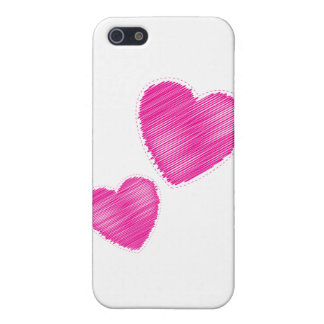 scribbled hearts cover for iPhone SE/5/5s