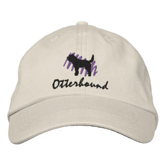 Scribbled Otterhound Embroidered Hats