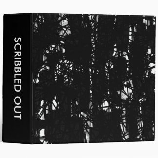 Scribbled out 04 (2in) 3 ring binder