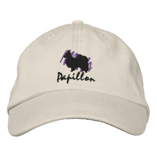 Scribbled Papillon Embroidered Baseball Hat