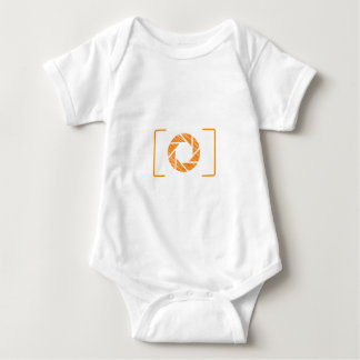 Scribbled photography aperture baby bodysuit