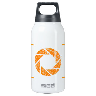 Scribbled photography aperture insulated water bottle
