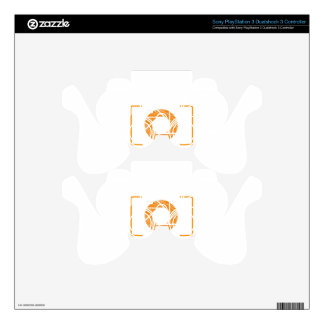 Scribbled photography aperture PS3 controller skins