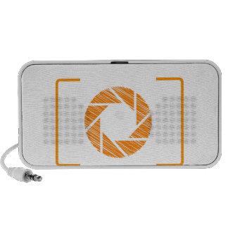 Scribbled photography aperture travel speaker