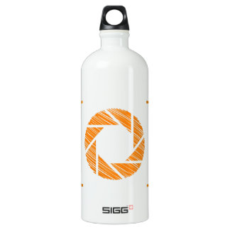 Scribbled photography aperture water bottle