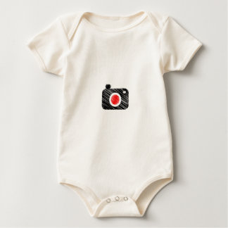 Scribbled photography camera baby bodysuit