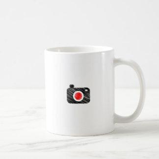 Scribbled photography camera coffee mug