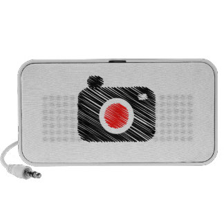 Scribbled photography camera travelling speaker