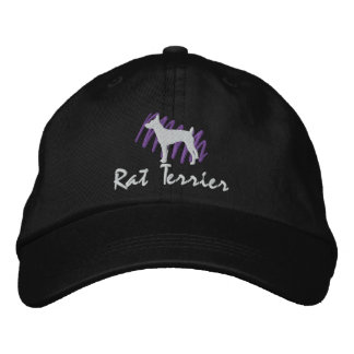 Scribbled Rat Terrier Embroidered Baseball Caps
