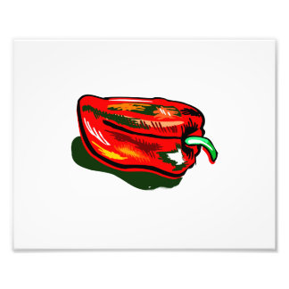 Scribbled red pepper art photo
