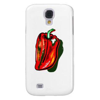 Scribbled red pepper samsung s4 case