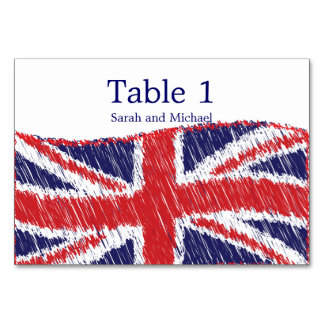 Scribbled Union Flag Table Card