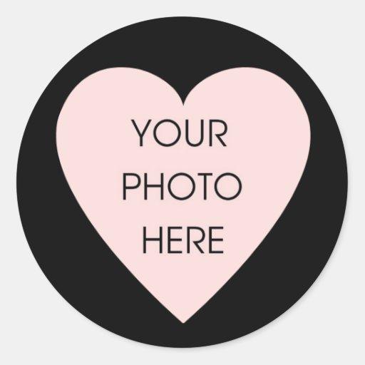 Scribbleprint Black Heart Border Sticker