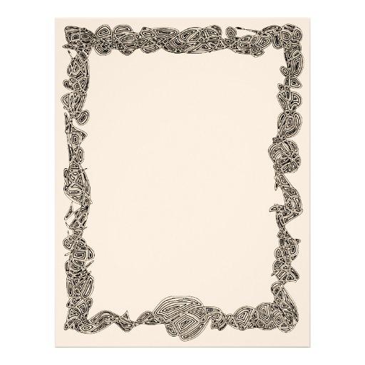 Scribbleprint Border Letterhead - Black