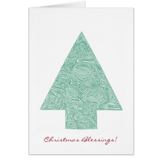 Scribbleprint Christmas Tree Card