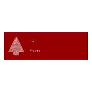 Scribbleprint Christmas Tree Mini Business Card