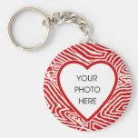 Scribbleprint Heart Border Keychain Template