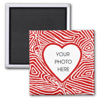 Scribbleprint Heart Border Magnet Template
