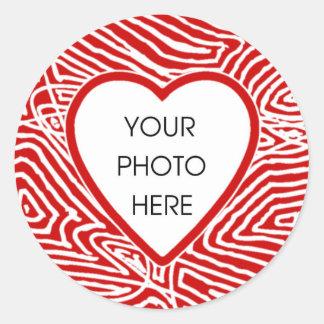 Scribbleprint Heart Border Stickers Template