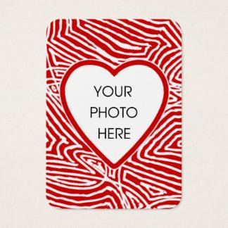 Scribbleprint Heart Photo Card