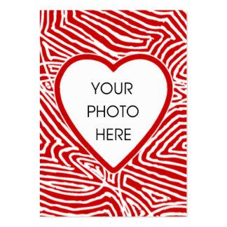 Scribbleprint Heart Photo Card Large Business Card