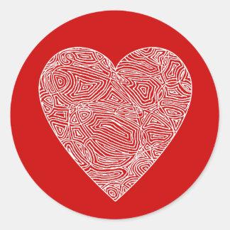 Scribbleprint Heart Sticker