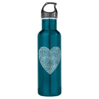 Scribbleprint Heart Water Bottle