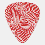 Scribbleprint - Red Guitar Pick