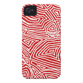 Scribbleprint rojo Case-Mate iPhone 4 cobertura
