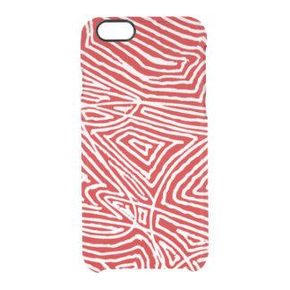 Scribbleprint rojo funda clear para iPhone 6/6S