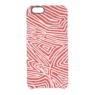 Scribbleprint rojo funda clearly™ deflector para iPhone 6 de uncommon